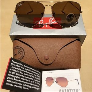 BRAND NEW AUTHENTIC RAY BAN AVIATOR SUNGLASSES